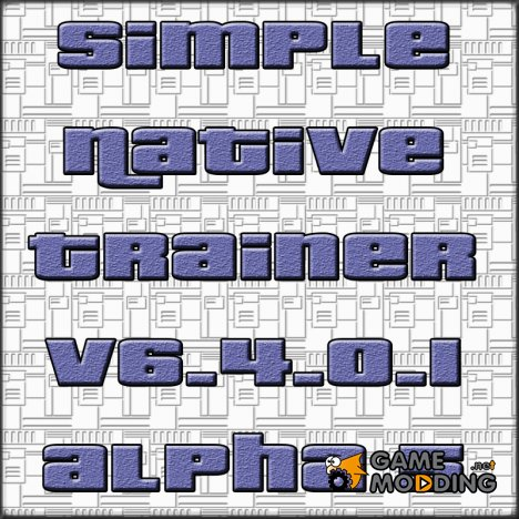 Simple Native Trainer v6.4.0.1 alpha 5 для GTA 4