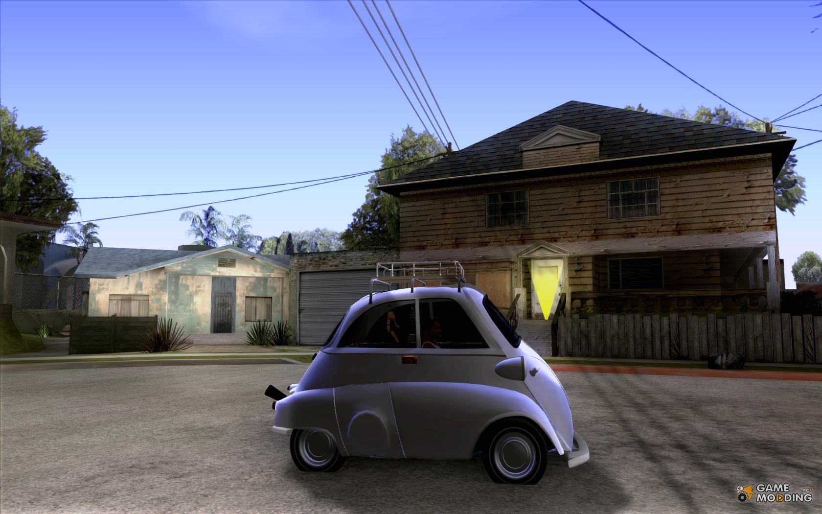 Bmw isetta for gta san andreas inside view