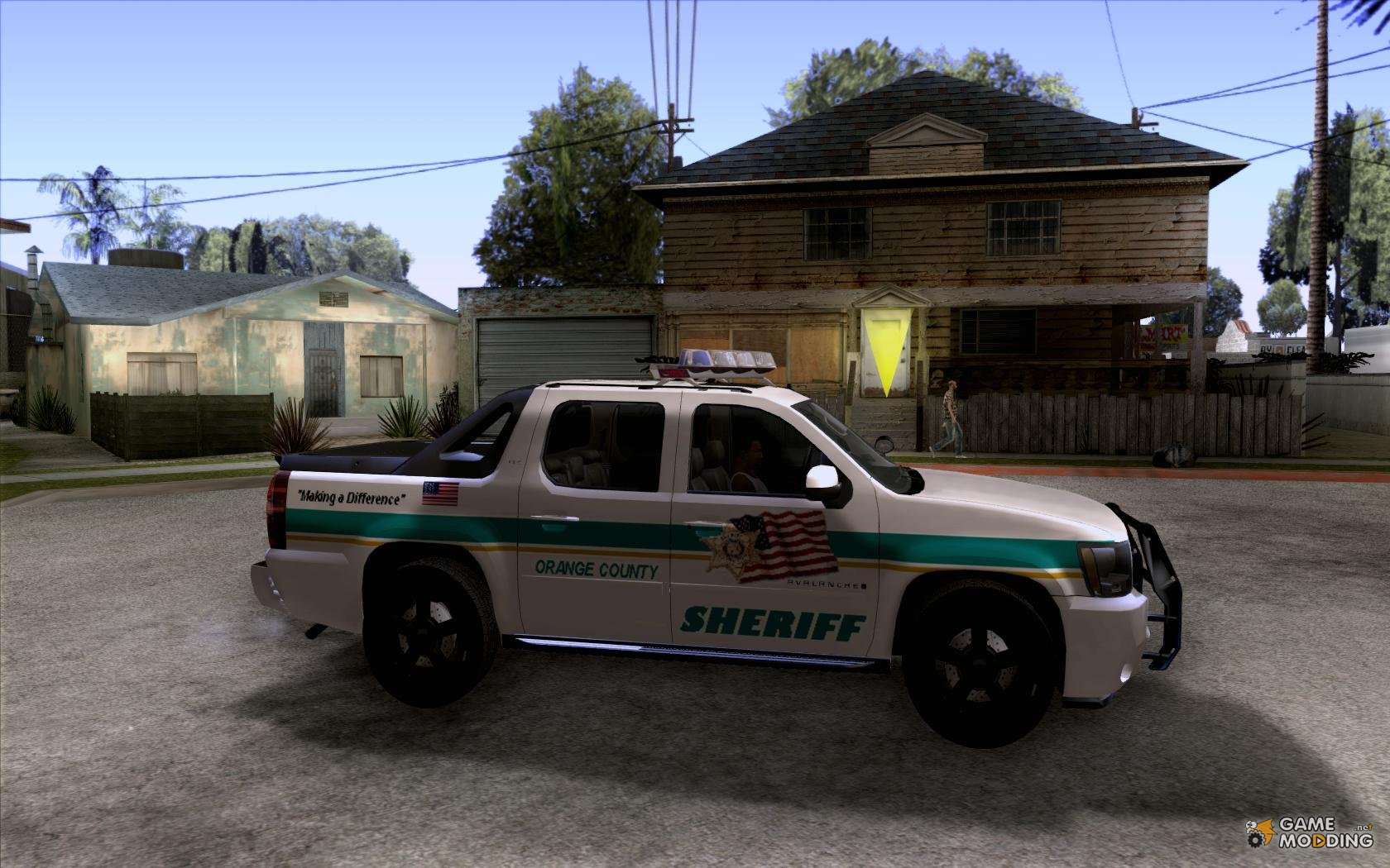 Chevrolet Avalanche Orange County Sheriff For Gta San Andreas