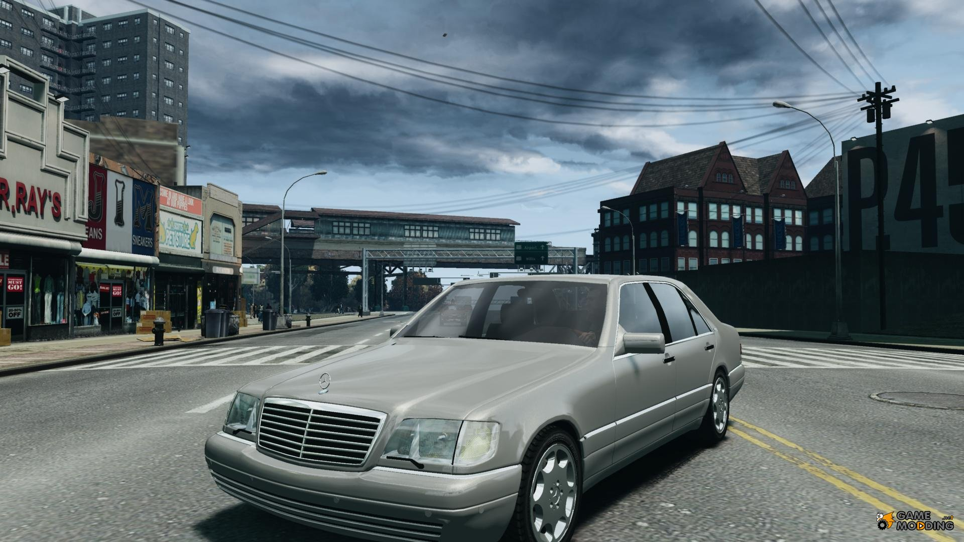 Mercedes benz w140 s600 for gta 4 for Mercedes benz w140