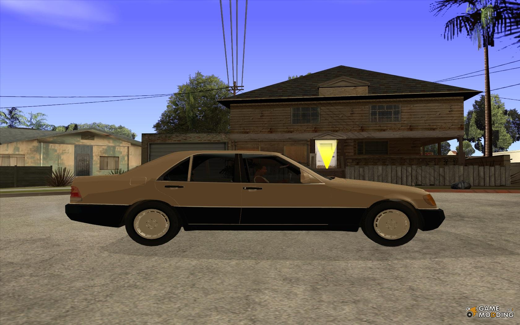 400 se mercedes benz w140 style 3 wheels for gta san andreas for Mercedes benz 400 se