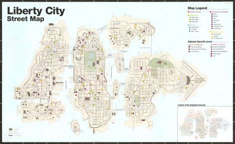 Large map of GTA 4 and EFLC