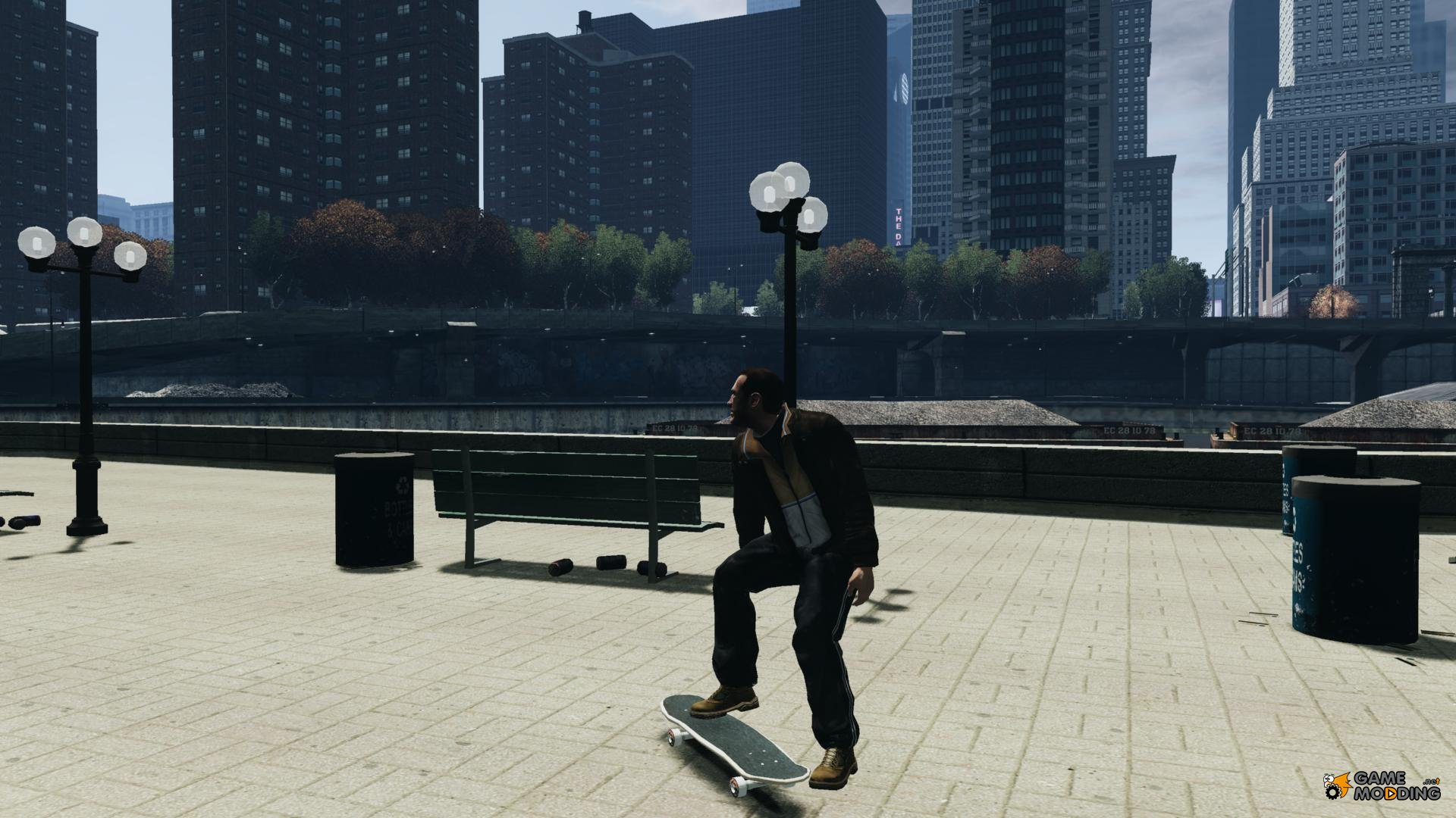 how to ride a skateboard in gta 4