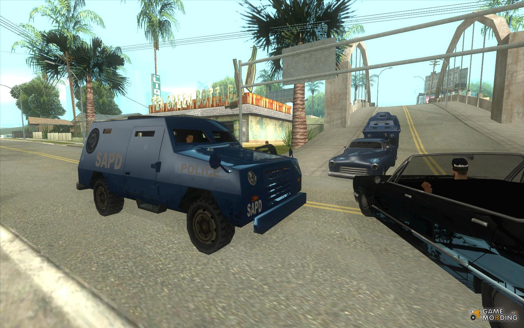 And the FBI S.W.A.T. Truck ride through the streets of for ...
