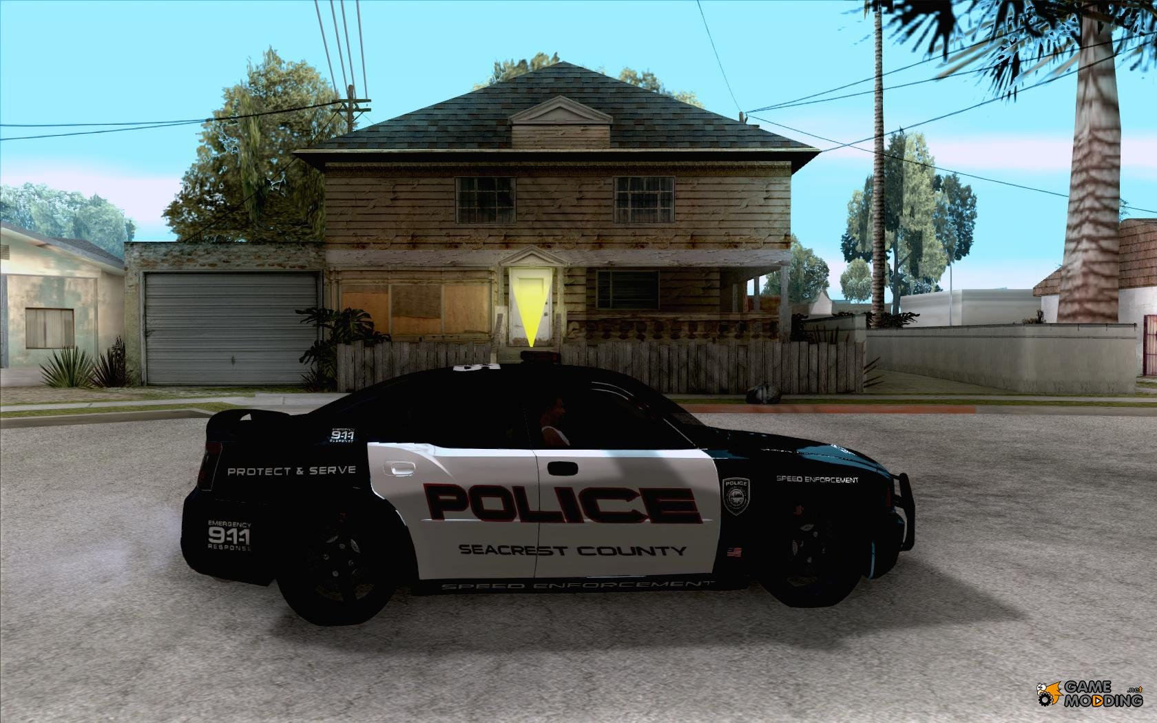 gta san andreas inside view ford crown victoria sfpd 1992 for gta san car interior design. Black Bedroom Furniture Sets. Home Design Ideas