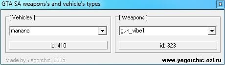GTA SA Weapons and Vehicles