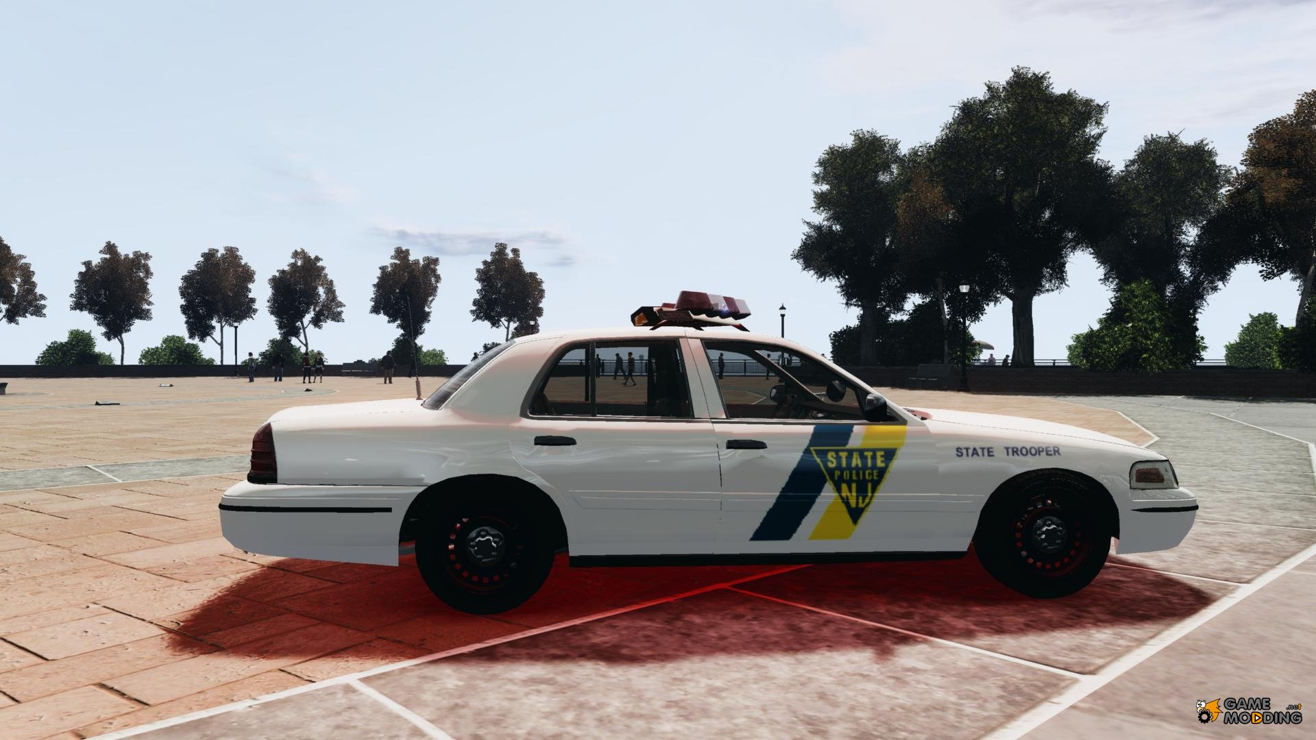 ford crown victoria new jersey state police for gta 4. Black Bedroom Furniture Sets. Home Design Ideas