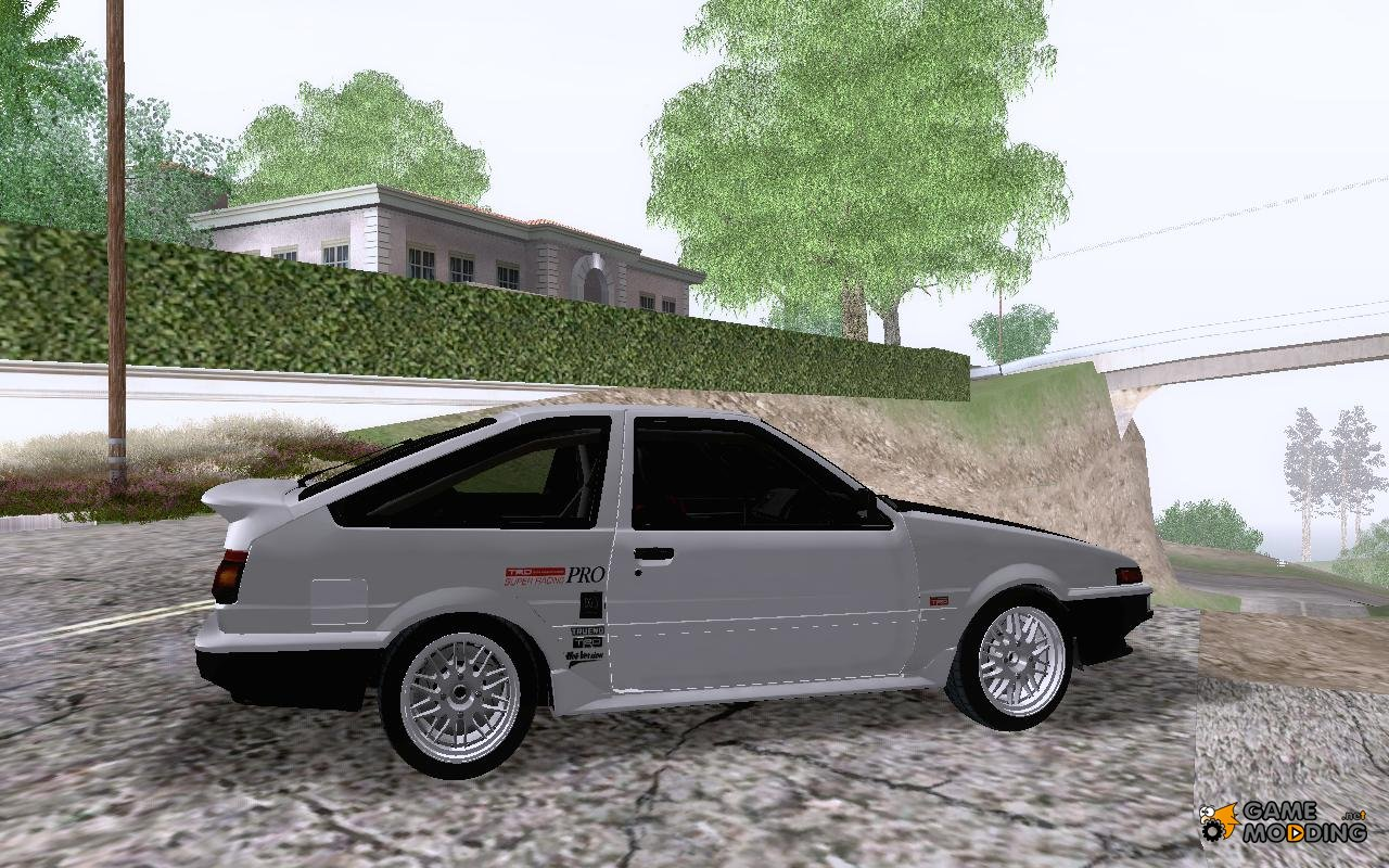 trd keiichi tsuchiya toyota sprinter trueno ae86 gtv for gta san andreas. Black Bedroom Furniture Sets. Home Design Ideas