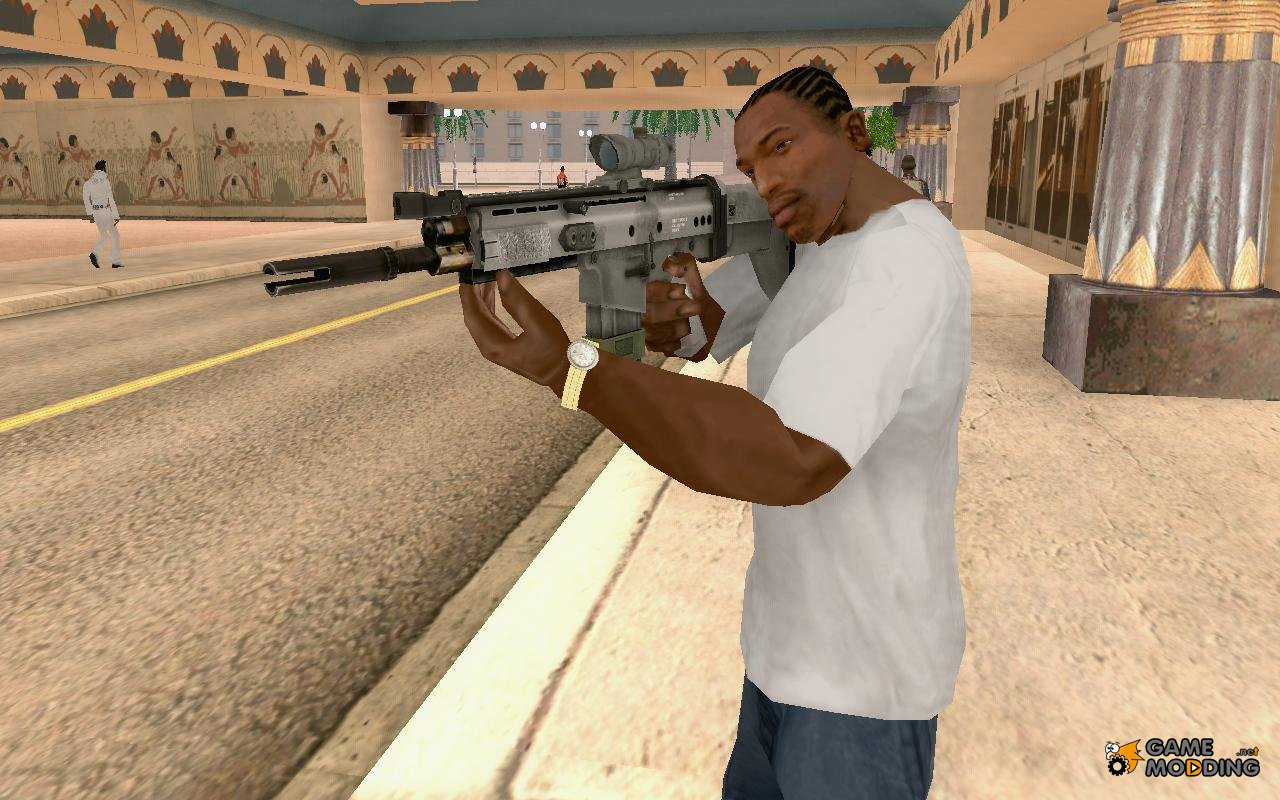 SCAR-H with ACOG Scope for GTA San Andreas M16 Acog