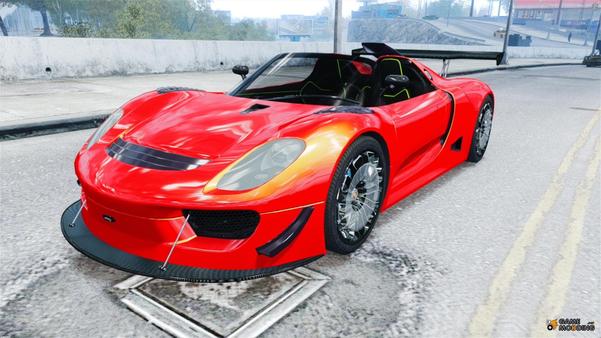 porsche 918 spider body kit final stock for gta 4. Black Bedroom Furniture Sets. Home Design Ideas