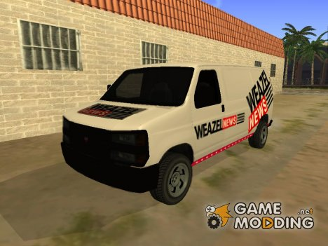 Newsvan Rumpo из GTA 5 for GTA San Andreas