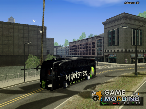 Monster Energy bus by YaroSLAV for GTA San Andreas