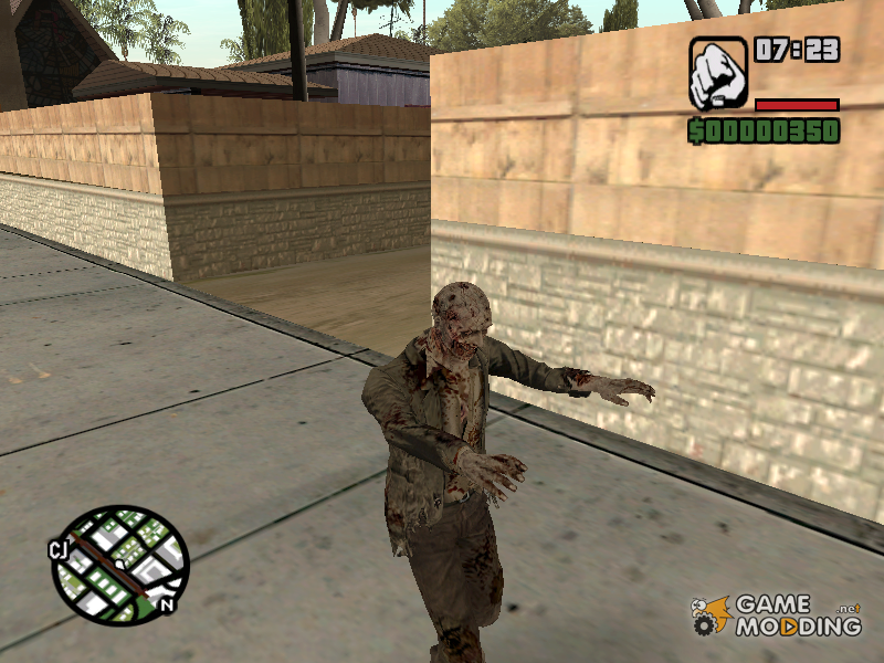 Zombie mod for GTA San Andreas rear-left view