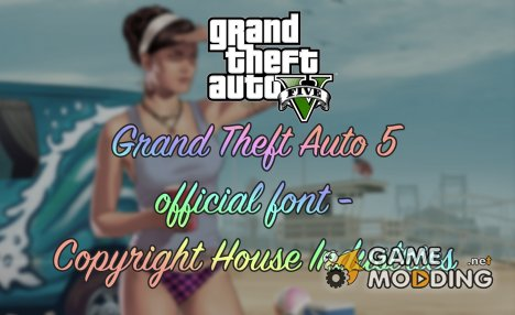 Official GTA 5 font - Copyright House Industries