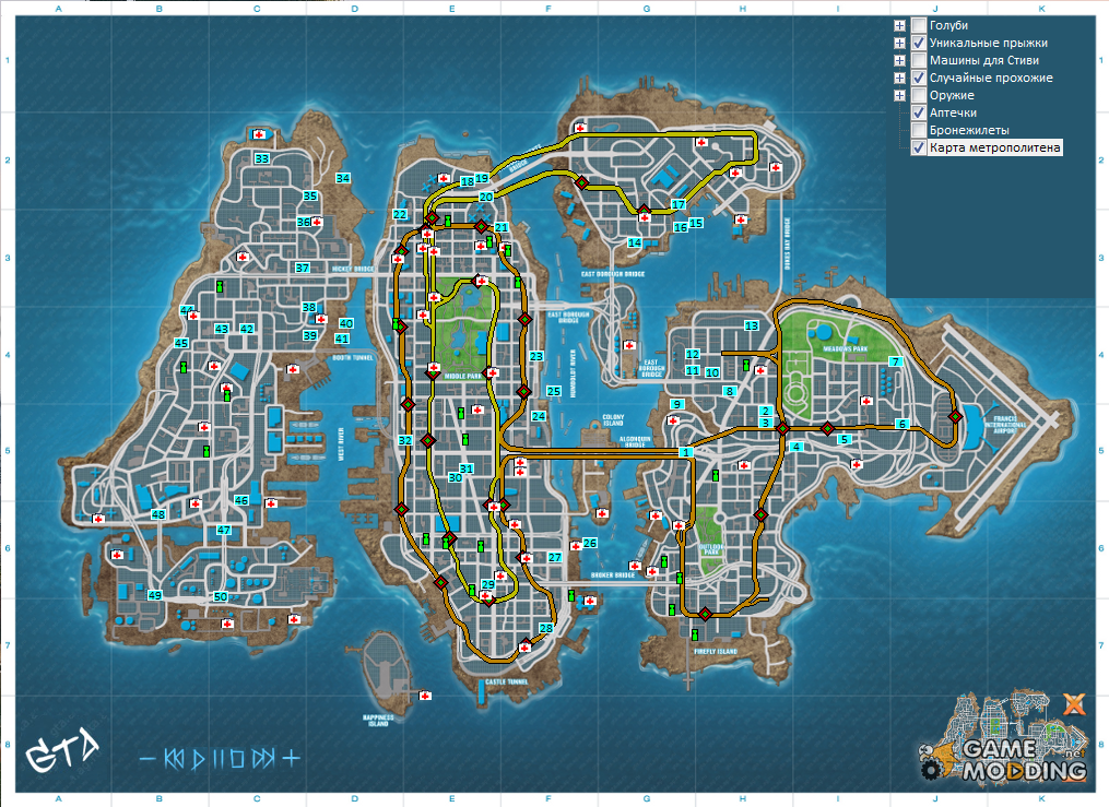 Map of the BBC for GTA4 and EFLC for GTA 4 Gta Iv Weapon Map